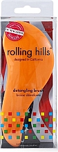 Fragrances, Perfumes, Cosmetics Hair Brush, orange - Rolling Hills Detangling Brush Travel Size Orange