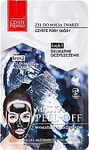 "Fragrances, Perfumes, Cosmetics Face Mask ""Wash Gel + Exfoliating Mask"" - Czyste Piekno Peel Off Mask"