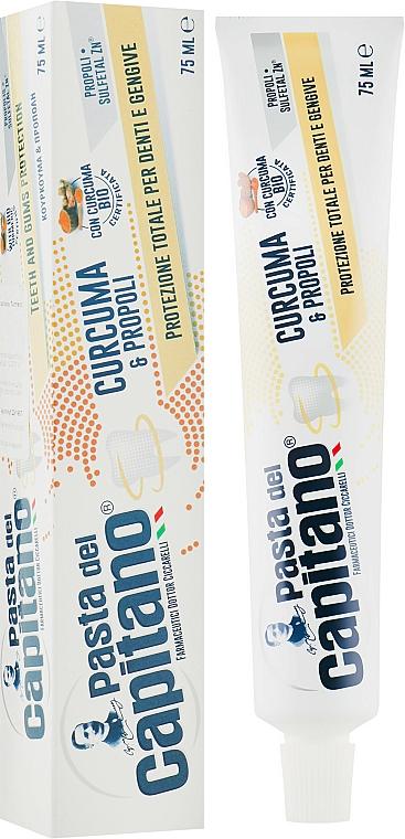Turmeric & Propolis Toothpaste - Pasta Del Capitano, Turmeric & Propolis — photo N2
