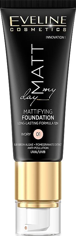 Foundation - Eveline Cosmetics Matt My Day Mattifying Foundation