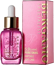 Fragrances, Perfumes, Cosmetics Highly-Intensive Anti-Wrinkle Luxe Serum with Snail Mucus - Bergamo Specialist S9 Snail Ampoule
