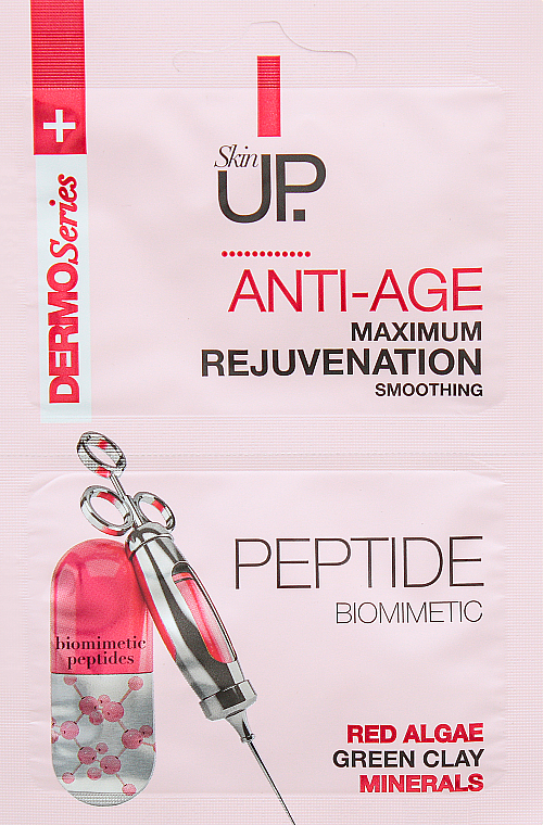 Rejuvenating Face Mask with Peptides, Red Algae, Minerals & Green Clay - Verona Laboratories DermoSerier Skin Up Face Mask