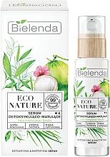 Fragrances, Perfumes, Cosmetics Face Serum - Bielenda Eco Nature Coconut Water Green Tea & Lemongrass Detox & Mattifyng Serum