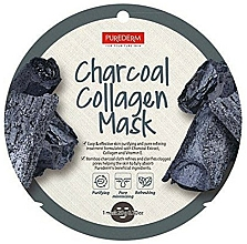 Fragrances, Perfumes, Cosmetics Collagen Face Mask - Purederm Charcoal Collagen Mask