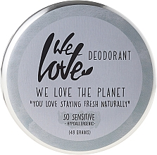 "Fragrances, Perfumes, Cosmetics Natural Creamy Deodorant ""So Sensitive"" - We Love The Planet Deodorant So Sensitive"