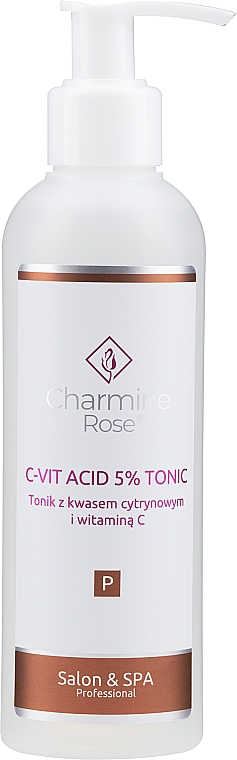 Citric acid and vitamin C Tonic - Charmine Rose C-Vit Acid 5% — photo N1