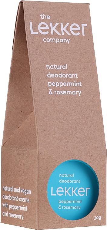 Mint and Rosemary Deodorant Cream - The Lekker Company Natural Deodorant