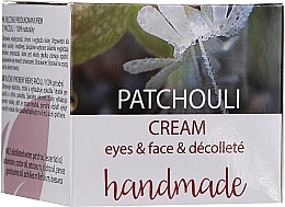 Fragrances, Perfumes, Cosmetics Patchouli Face & Decollete Cream - Hristina Cosmetics Handmade Patchouli Eyes & Face & Decollete Cream