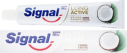 Fragrances, Perfumes, Cosmetics Toothpaste - Signal Long Active Nature Elements Coco White