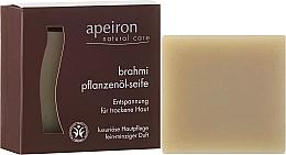 "Fragrances, Perfumes, Cosmetics Dry Skin Natural Soap """" - Apeiron Brahmi Plant Oil Soap"