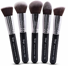 Fragrances, Perfumes, Cosmetics Brush Set - Nanshy Face Brush Set Black (Brush/5pcs)