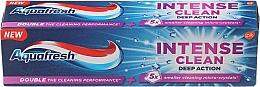 "Fragrances, Perfumes, Cosmetics Toothpaste ""Intense Clean. Deep Action"" - Aquafresh Intense Clean Deep Action Toothpaste"