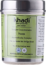 "Fragrances, Perfumes, Cosmetics Plant Face Mask ""Neem"" - Khadi"