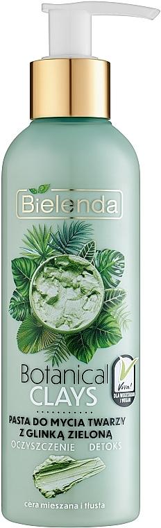 Green Clay Face Paste - Bielenda Botanical Clays Vegan Face Wash Paste Green Clay