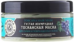 "Fragrances, Perfumes, Cosmetics Dry & Damaged Hair Mask ""Emerald Tuscan"" - Planeta Organica Toscana Hair Mask"
