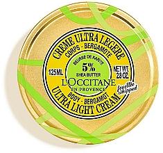 Fragrances, Perfumes, Cosmetics Shea Butter and Bergamot Body Cream - L'Occitane Shea Butter Bergamot Ultra Light Body Cream
