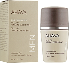 Fragrances, Perfumes, Cosmetics Roll-On Mineral Deodorant - Ahava Time To Energize Men's Roll-On Mineral Deodorant