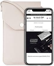 "Fragrances, Perfumes, Cosmetics Crossbody Phone Case ""Cross"", beige - Makeup Phone Case Crossbody Beige"