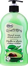 Fragrances, Perfumes, Cosmetics Hand Liquid Soap with Avocado Oil - Bluxcosmetics Naturaphy Hand Soap