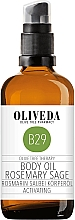"""Fragrances, Perfumes, Cosmetics Body Oil """"Rosemary & Sage"""" - Oliveda Body Oil Rosemary Salbei Activating"""