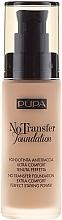 Fragrances, Perfumes, Cosmetics Foundation - Pupa No Transfer Foundation
