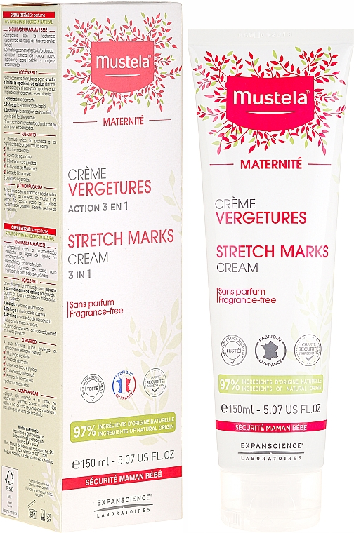 No-Scent Anti-Strech Marks Cream - Mustela Maternity Stretch Marks Cream 3in1
