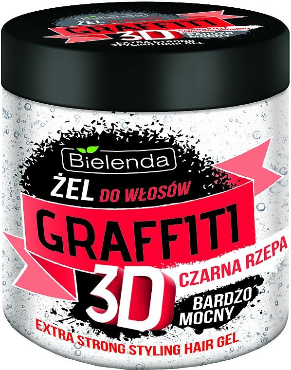 Black Turnip Hair Gel - Bielenda GRAFFITI 3D Extra Strong Stayling Hair Gel