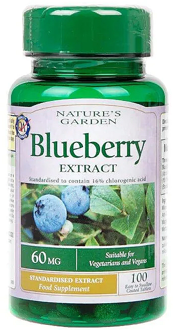 """Food Supplement """"Blueberry Extract"""" - Nature's Garden Blueberry Extract — photo N1"""