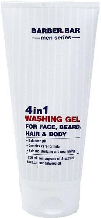 4-in-1 Cleansing Gel - Barber.Bar Men Series 4in1 Washing Gel for Face, Beard, Hair & Body — photo N1