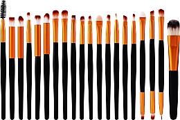Fragrances, Perfumes, Cosmetics Professional Makeup Brush Set, 20 pcs, black-golgen - Lewer