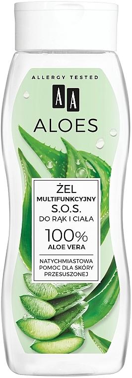 Multifunctional Hand & Body Gel - AA Aloes 100% Aloe Vera Hand And Body SOS Gel