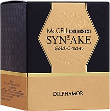 Fragrances, Perfumes, Cosmetics Intensive Nourishing Cream - Dr. Pharmor McCell Skin Science 365 SYN-AKE Gold Cream