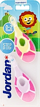 Fragrances, Perfumes, Cosmetics Baby Toothbrush, 0-2 yrs, pink + yellow-pink - Jordan Step By Step Soft & Gentle