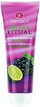 "Fragrances, Perfumes, Cosmetics Anti-Stress Shower Gel ""Grape and Lime"" - Dermacol Body Aroma Ritual Stress Relief Shower Gel Grap & Lime"