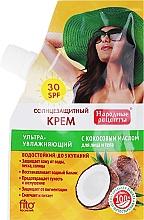 Fragrances, Perfumes, Cosmetics Coconut Oil Sunscreen Cream SPF30 - Fito Cosmetic Folk Recipes
