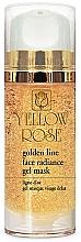 Fragrances, Perfumes, Cosmetics Facial Gold Gel Mask - Yellow Rose Golden Line Face Radiance Gel Mask