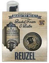 Fragrances, Perfumes, Cosmetics Set - Reuzel Wood and Spice Beard Try Me Kit (balm/35g + foam/70ml )