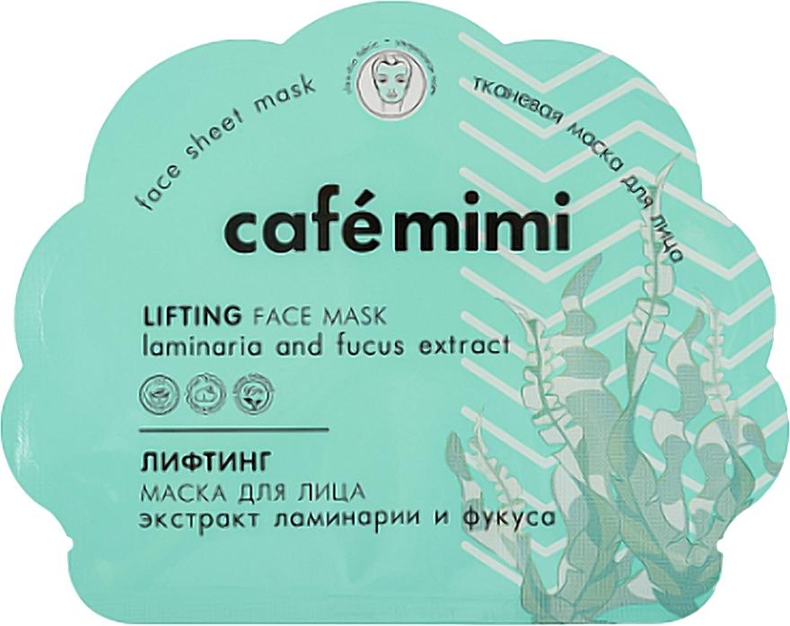 Lifting Face Sheet Mask - Cafe Mimi Lifting Face Mask Laminaria and Fucus Extract
