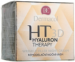 Fragrances, Perfumes, Cosmetics Pure Hyaluronic Acid Night Face Cream - Dermacol Hyaluron Therapy 3D Wrinkle Night Filler Cream