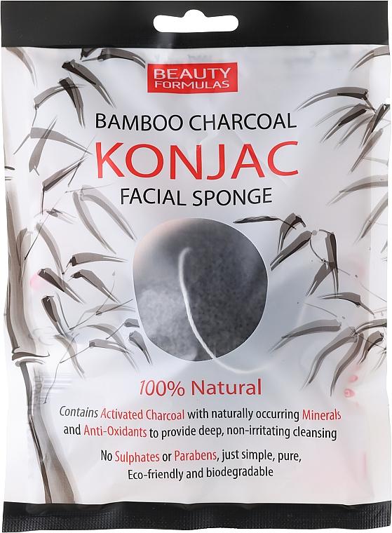 Face Wash Sponge - Beauty Formulas Konjac Bamboo Charcoal Facial Sponge