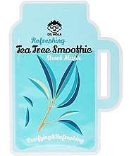 Fragrances, Perfumes, Cosmetics Oily and Problem Skin Sheet Mask - Dr. Mola Refreshing Tea Tree Smoothie Sheet Mask