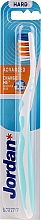 Fragrances, Perfumes, Cosmetics Toothbrush, hard, no cap, white-blue - Jordan Advanced Toothbrush