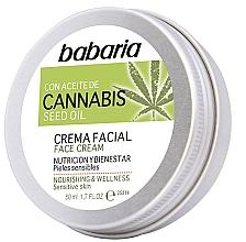 Fragrances, Perfumes, Cosmetics Face Cream - Babaria Cannabis Seed Oil Face Cream