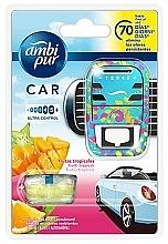 "Fragrances, Perfumes, Cosmetics Car Freshener Set ""Tropical Fruits"" - Ambi Pur (freshener/1szt+refill/7ml)"