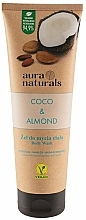 Fragrances, Perfumes, Cosmetics Coconut & Almond Shower Gel - Aura Naturals Coco & Almond Body Wash