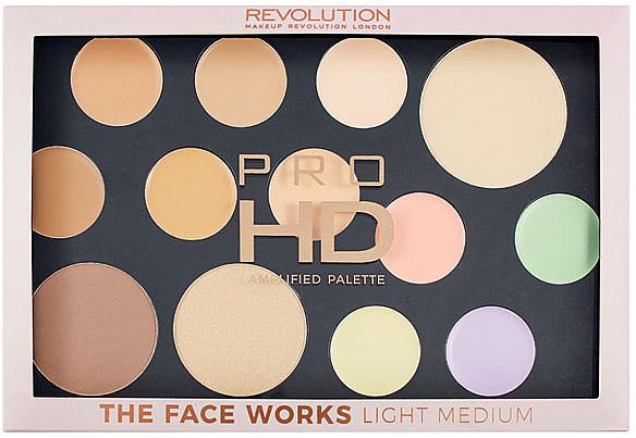 Face Palette - Makeup Revolution Pro HD The Works Palette