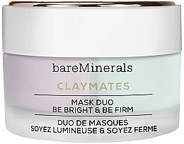 Fragrances, Perfumes, Cosmetics Brightening and Firming Double Face Mask - Bare Escentuals Bare Minerals Claymates Be Bright & Be Firm Mask Duo