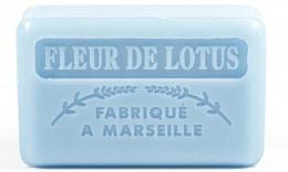 """Fragrances, Perfumes, Cosmetics Marseille Soap """"Lotus Flower"""" - Foufour Savonnette Marseillaise Fleur De Lotus"""