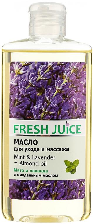 "Massage & Care Oil ""Mint & Lavender + Almond Oil"" - Fresh Juice Energy Mint&Lavender+Almond Oil"