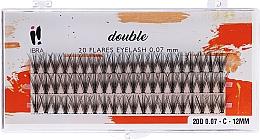 Fragrances, Perfumes, Cosmetics Individual Lashes, C 12 mm - Ibra 20 Flares Eyelash Knot Free Naturals